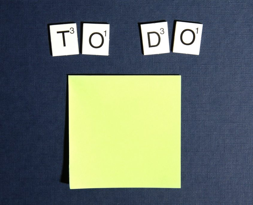 Making a complete to do list helps you allocate time and money.